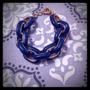 JCrew navy chunky bracelet